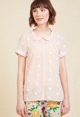 ModCloth Button-Up Top in Puff
