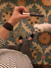 Maddie checking out my mascara ;-)