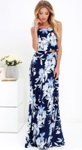 LuLu's Love for Lanai Two Piece Maxi Dress
