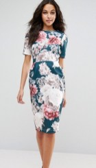 ASOS Wiggle Dress in Floral Print,