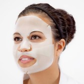 Boscia's hydrogel mask. You can see here how the two pieces overlap.