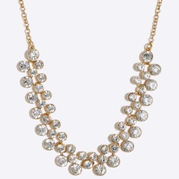 J.Crew Crystal Bubbles Necklace