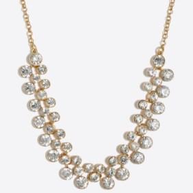 J.Crew Crystal Bubbles Necklace