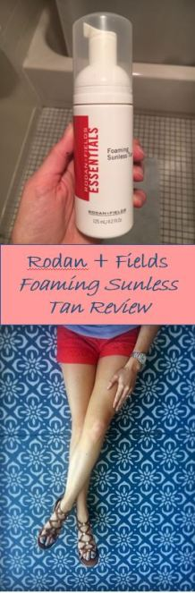 An honest review of Rodan + Fields Essentials Sunless Foaming Tan