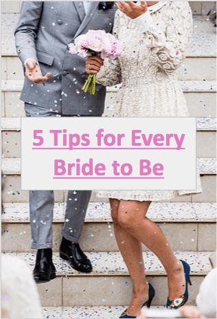 Before you start any wedding planning, check out these five tips that will help any bride to be get through the beginnings of the wedding planning process.
