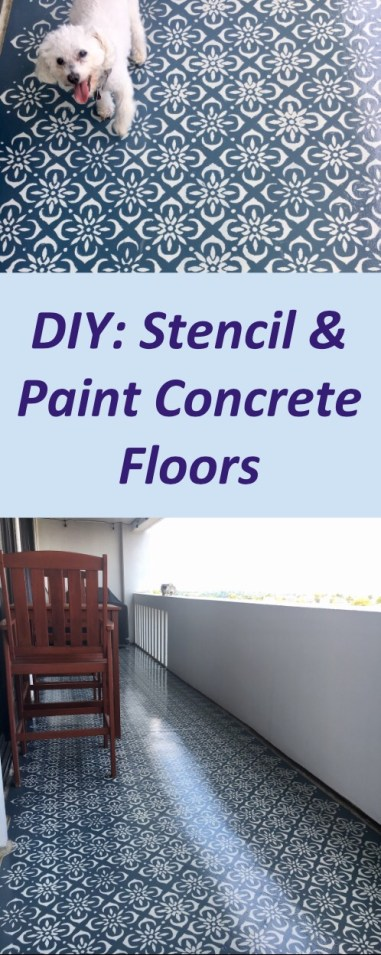 DIY: Painting & Stenciling Concrete Floors - Here's how to make your concrete floors look like tile!