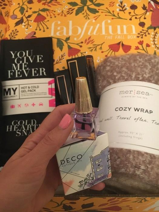 Inside FabFitFun Fall Box - DECO MIAMI Lavender Cuticle Oil