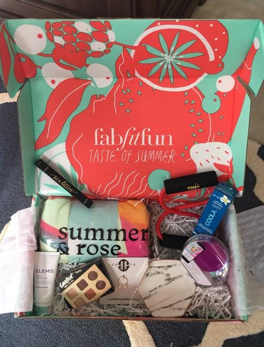 FabFitFun Summer Box Review + $10 Coupon - Sarah Camille's Scoop