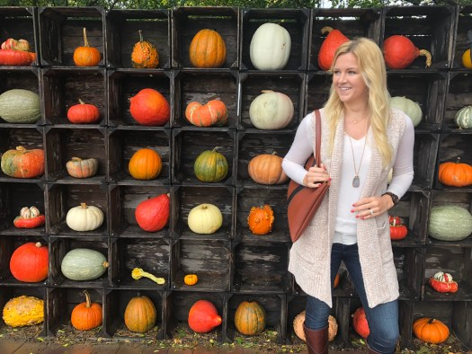 Cozy Fall Style - Sweater Vest - Picking out Pumpkins & Produce in Northern Virginia - SCsScoop.com