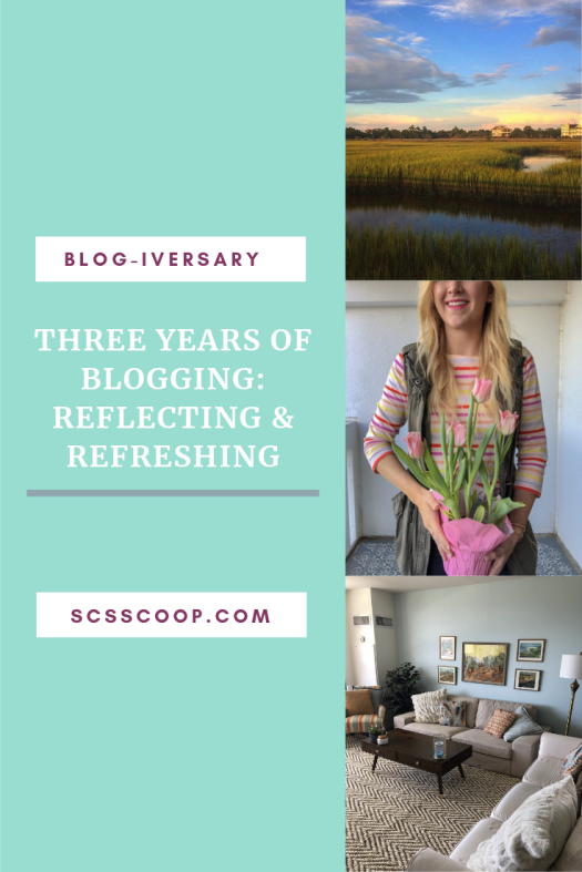 Blog-iversary - Three Years of Blogging: Reflecting & Refreshing the Blog - Blogging Lessons and Branding Your Blog - SCsScoop.com