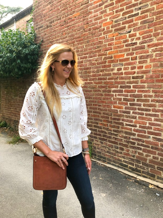 Summer Style - Eyelet Top with Sandals - J.Crew - Old Town Alexandria, VA - SCsScoop.com