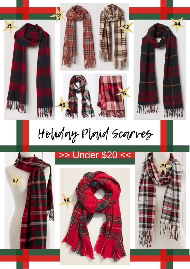 Holiday Plaid Scarves Under $20