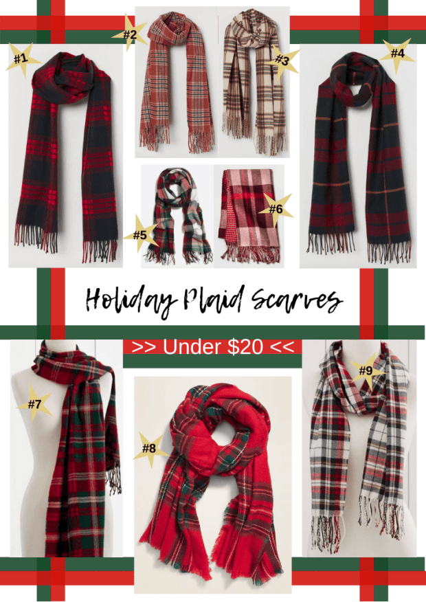 Holiday Plaid Scarves Under $20 - Affordable Holiday Style - Plaid Style Trend - SCsScoop.com