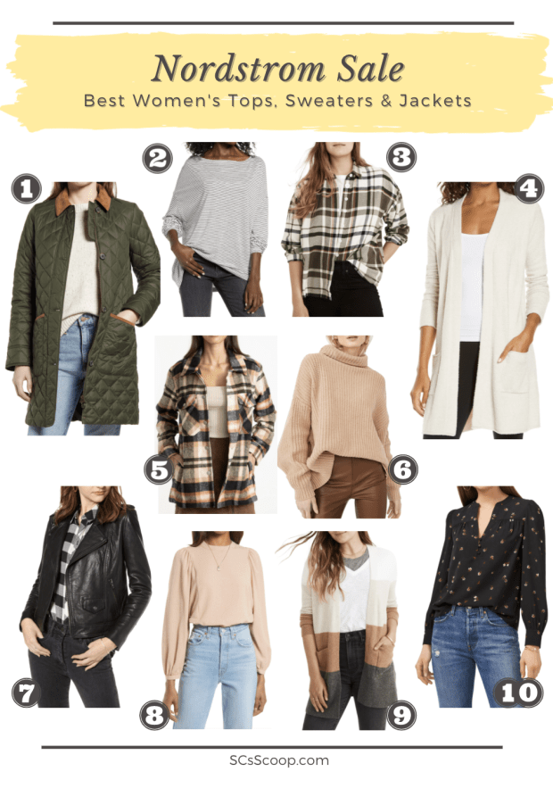 Nordstrom Sale: Best of the Best Women's Tops, Sweaters and Jackets Collage - SCsScoop.com