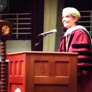 President Mary-Beth Cooper delivers her inauguration speech (Jon Santer/The Student)
