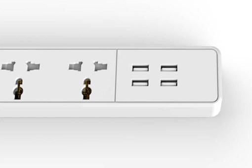 Ổ cắm điện tích hợp sạc USB Orico OSC-4A4U-UN