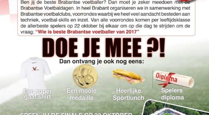 Brabantse Voetbaldagen 18 oktober
