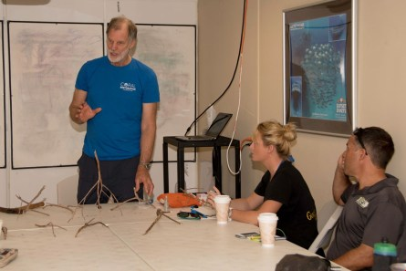 Ken Nedimyer, Coral Restoration Foundation, teaching out-planting techn...