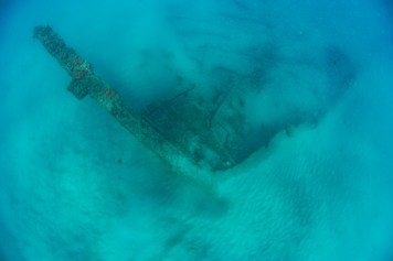 George Valentine's structure lies on the seafloor where it has rested for 113 years (Photo credit: Florida Division of Historical Resources, Bureau of Archaeological Research, Gug Underwater, Inc.)