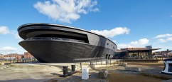 The exterior of Mary Rose Museum in Portsmouth, England (Photo credit Hufton+Crow©)