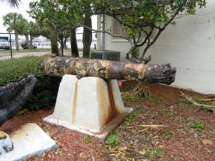 Cannon at St. Lucie Historical Museum (Photo: Florida Division of Historical Resources)