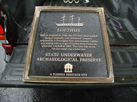 The plaque, before installation on site (Photo courtesy Florida Division of Historical Resources).