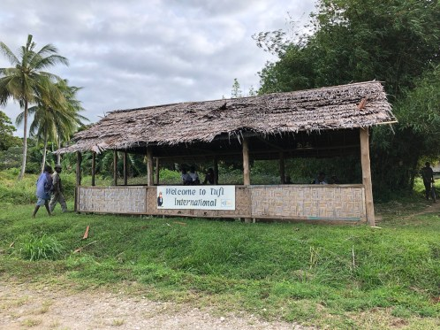 """Tufi's tiny """"international"""" airport welcomes three flights per week from the Papua New Guinea capital of Port Moresby. (Photo credit: Rebecca Strauss)"""