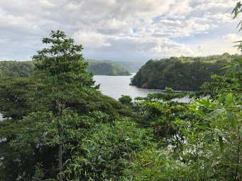 Stunning scenery is typical for the area surrounding Tufi, which sits perched atop a fjord like the one below. (Photo credit: Rebecca Strauss)