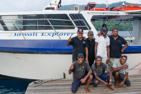 The dive crew at Tawali is professional and knowledgable. (Photo courtesy of Tawali Resort).