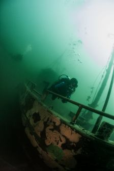 The larger wreck in Sundhauser See