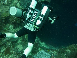 KISS Rebreather diver, Solomon Islands Dive Trip, New Zealand Sea Adventures, Wellington