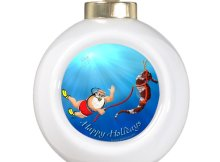 scuba diving christmas tree ornaments