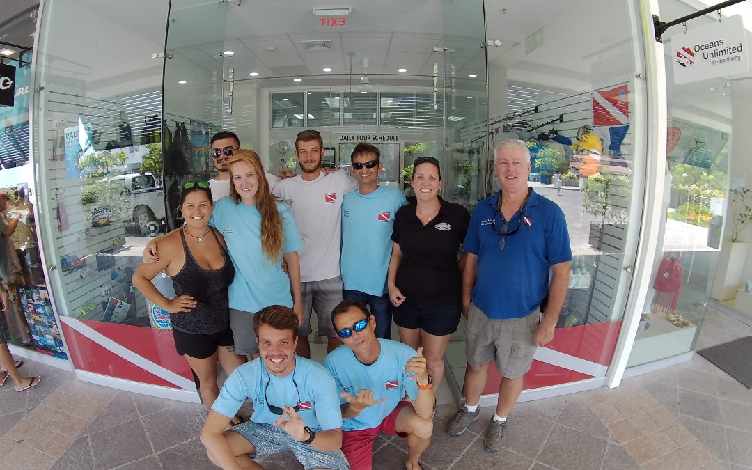 PADI IDC students in February