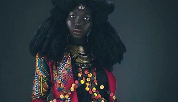 "Meet The Beautiful Sudanese Model Nicknamed The ""Queen Of The Dark"""