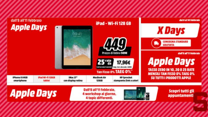 Apple Days da MediaWorld: iPhone, iMac, MacBook e iPad in offerta