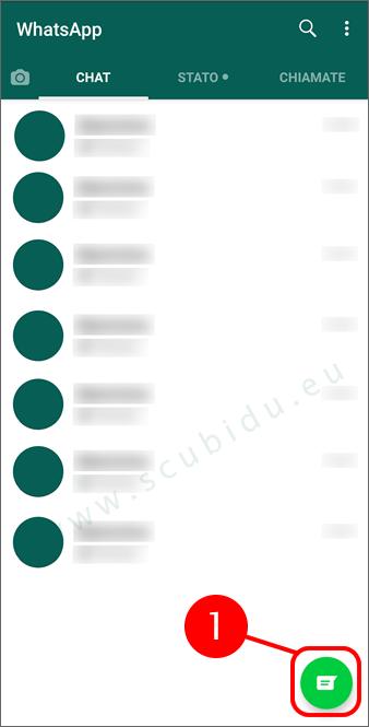 whatsapp sincronizzare contatti rubrica