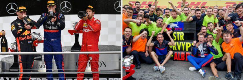 F1 Germania 2019 podio Scuderia Toro Rosso