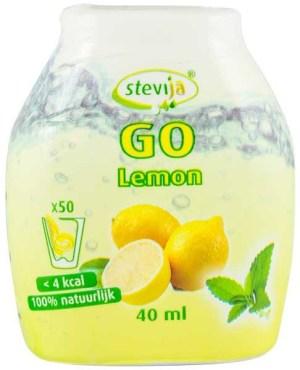 SteviJa GO -  Indulcitor pe baza de stevie cu aroma de lamaie, 40ml