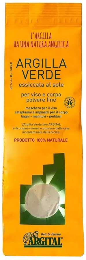 ARGITAL - Argila verde pentru uz extern - pulbere fina 1 kg