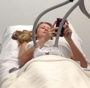 Beautiful woman having laser treatment