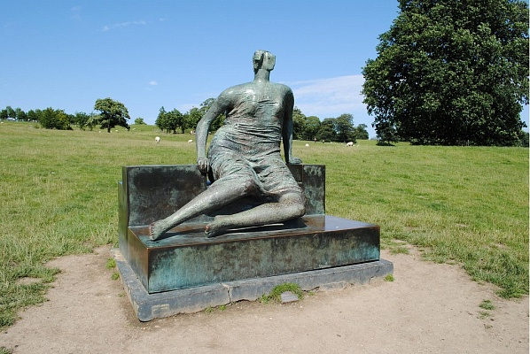 Henry Moore Draped Seated Woman via the Independent
