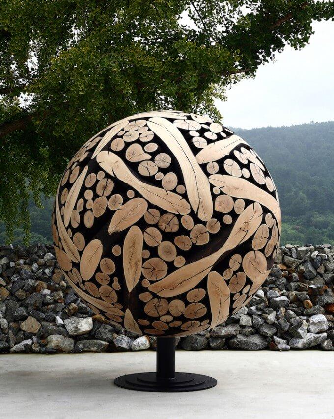 Wood Sculptures by Jae-Hyo Lee