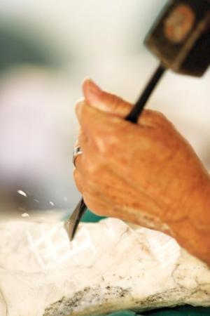Alabaster sculpting Aaron R. Atencio / Loveland Reporter-Herald