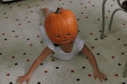 pumpkin carving fails kid