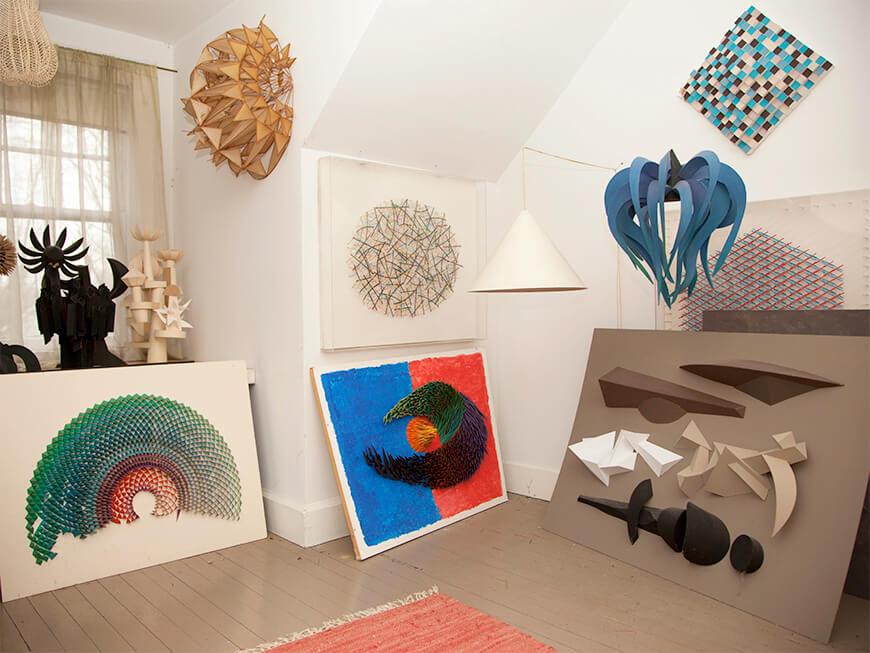 Irving Harper multiple paper sculptures