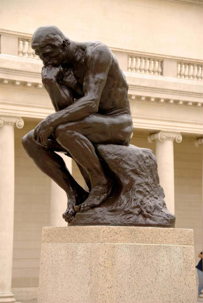 The Thinker by Auguste Rodin
