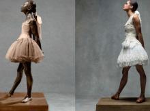 Copeland as Degas's Little Dancer Aged Fourteen