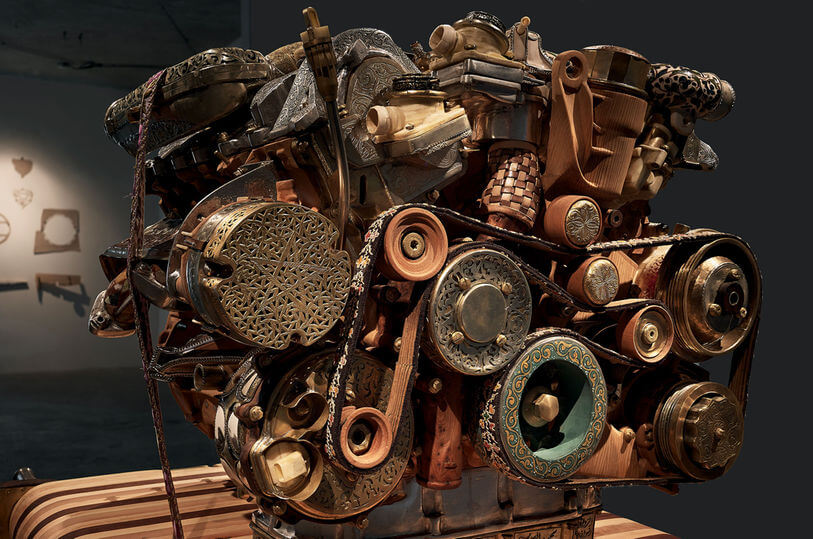 Eric van Hove V12 Laraki engine sculpture