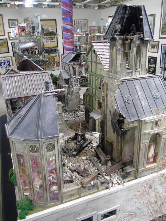 bombed out building wwii diorama