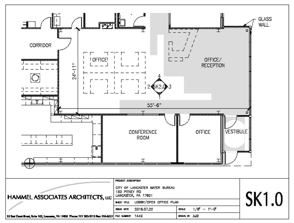 plan for public art site
